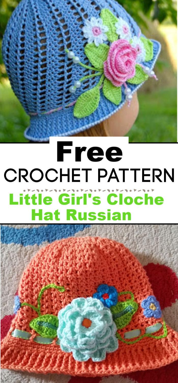 Little Girls Cloche Hat Russian Pattern Update