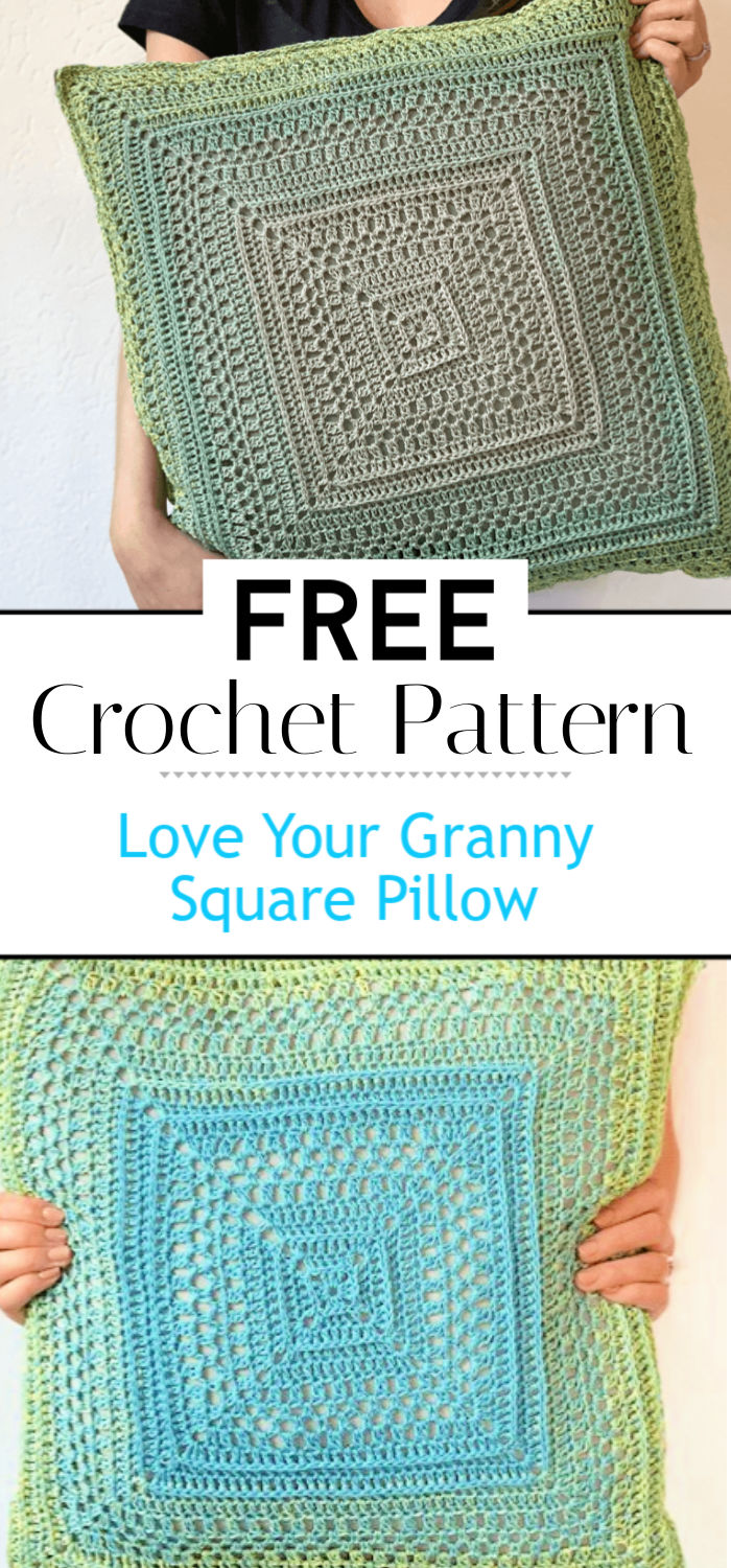 Love Your Granny Square Pillow