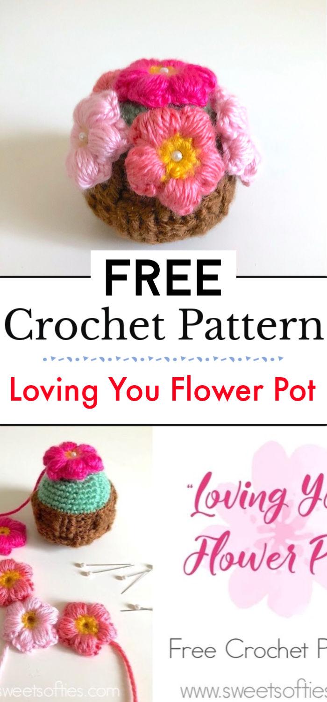 Loving You Flower Pot Free Crochet Pattern