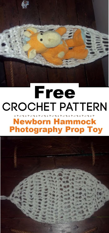 Newborn Hammock Photography Prop Toy Hammock Free Crochet Pattern