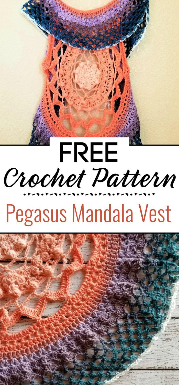 Pegasus Mandala Crochet Vest Pattern