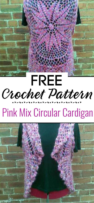 Pink Mix Circular Cardigan