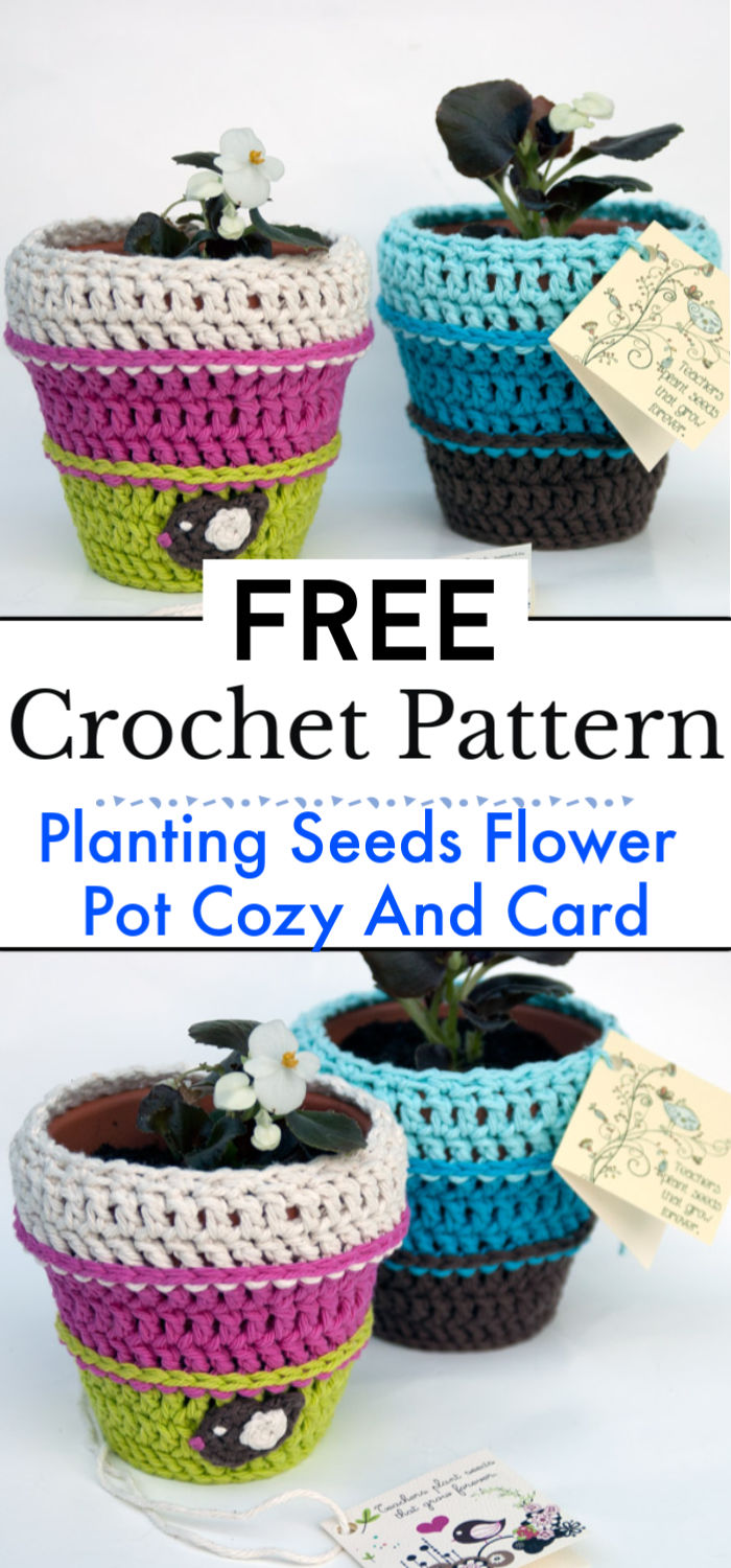 Planting Seeds Flower Pot Cozy And Card