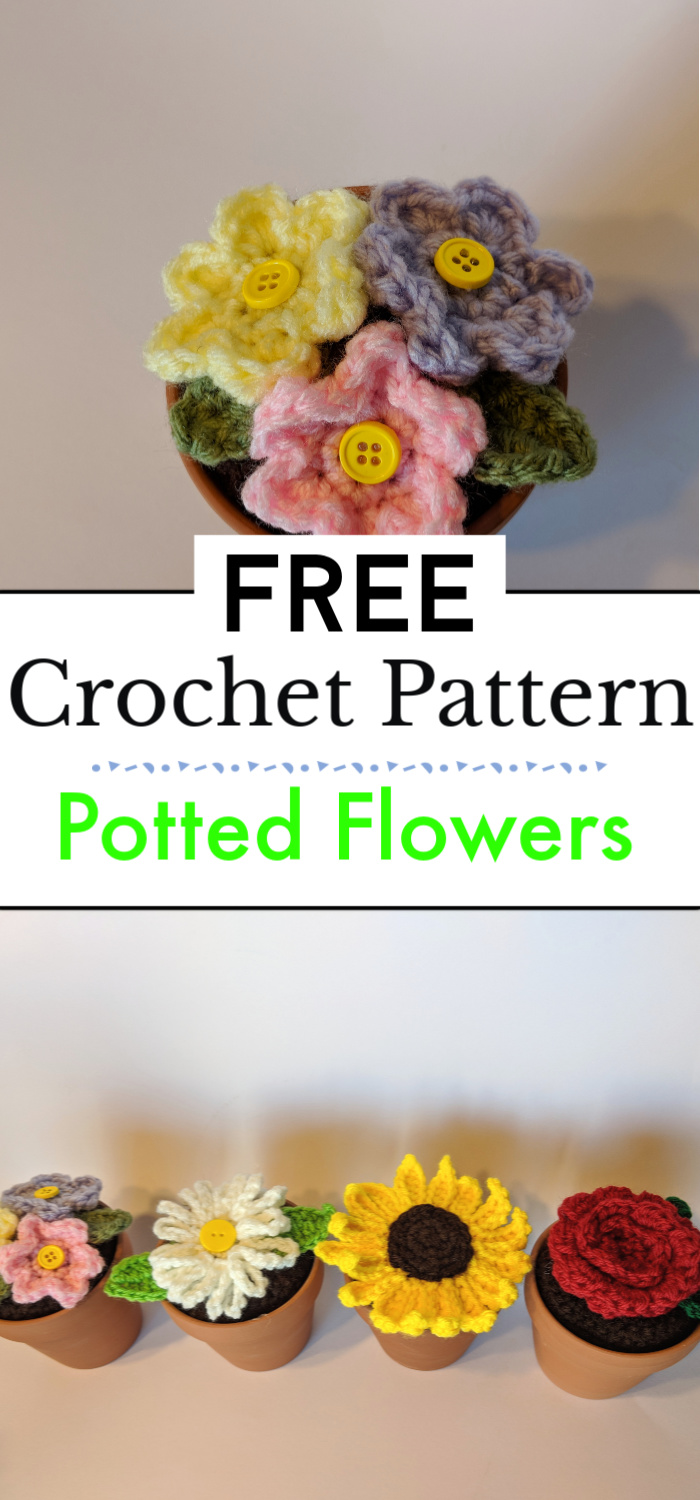 Potted Crochet Flowers