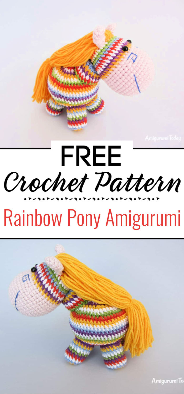 Rainbow Pony Amigurumi Pattern