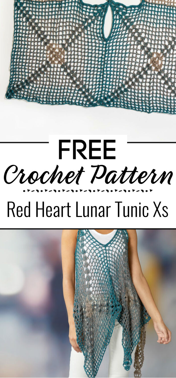 Red Heart Lunar Tunic Xs