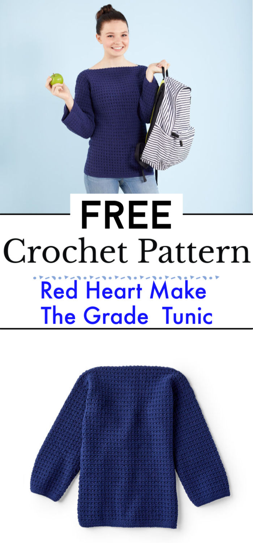 Red Heart Make The Grade Crochet Tunic