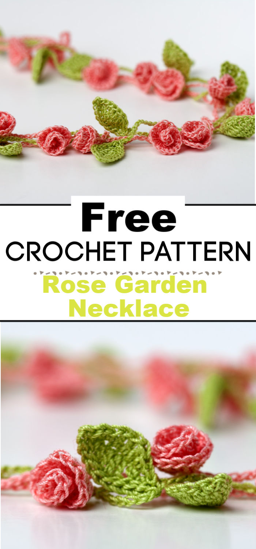Rose Garden Crochet Necklace