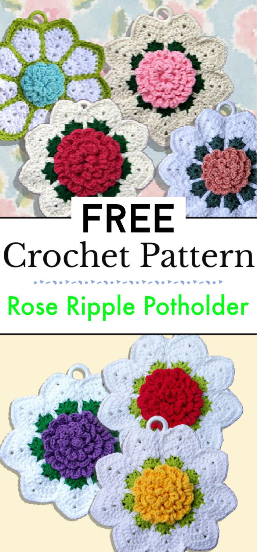 Rose Ripple Potholder Pattern