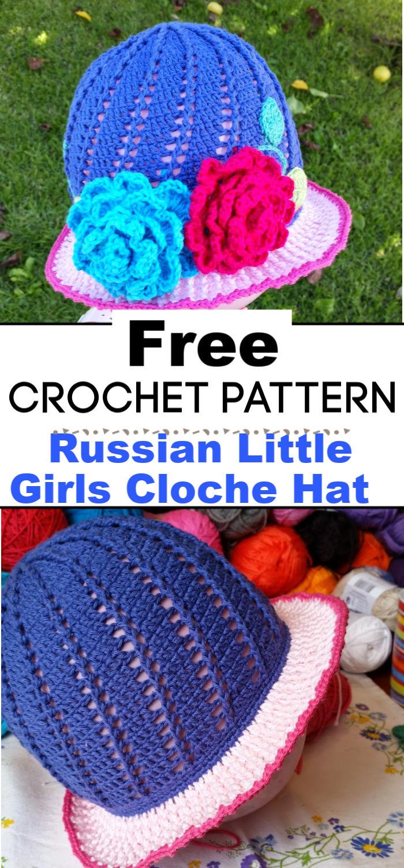 Russian Little Girls Cloche Hat Pattern