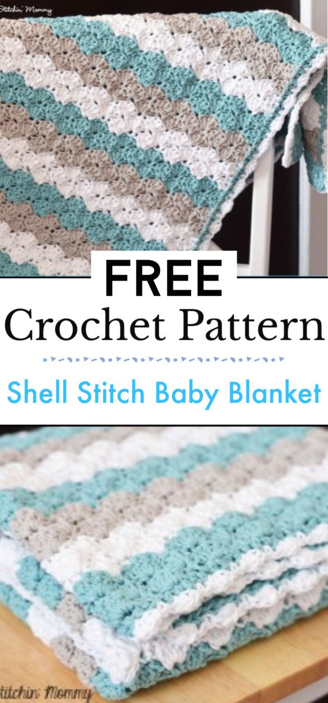 Shell Stitch Baby Blanket Free Crochet Pattern 1