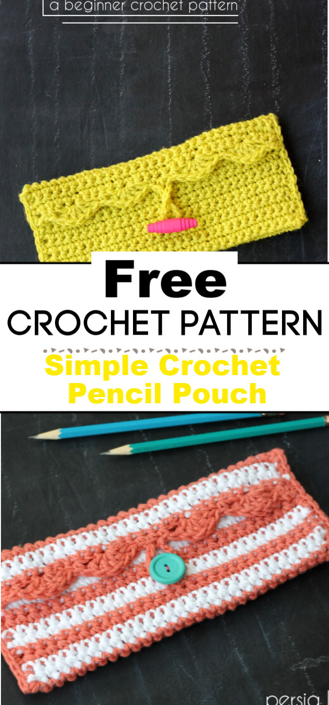 Simple Crochet Pencil Pouch Free Crochet Pattern