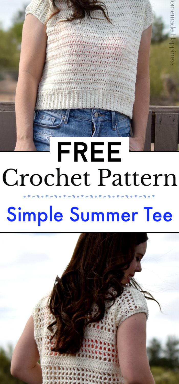 Simple Summer Tee Crochet Pattern