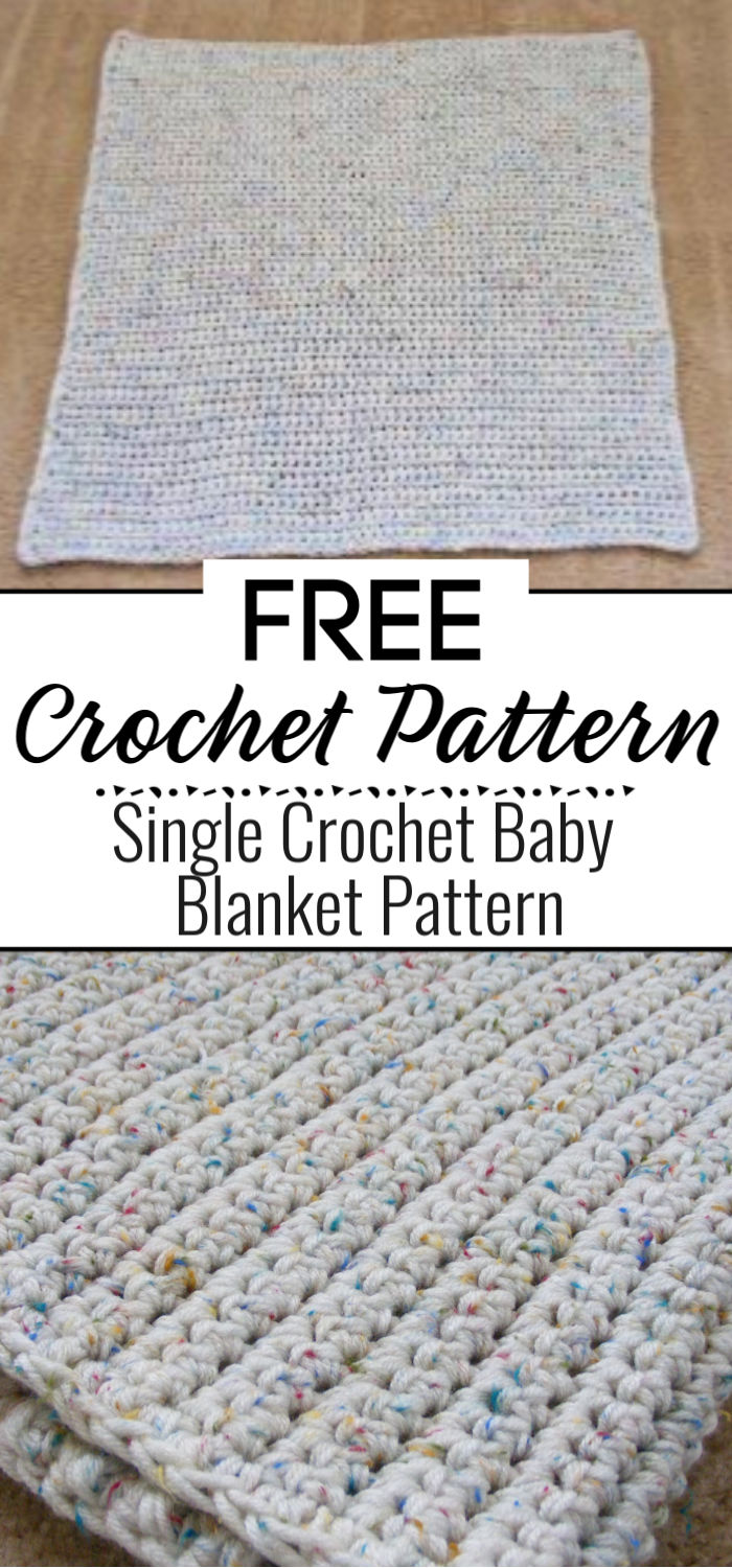 Single Crochet Baby Blanket Pattern