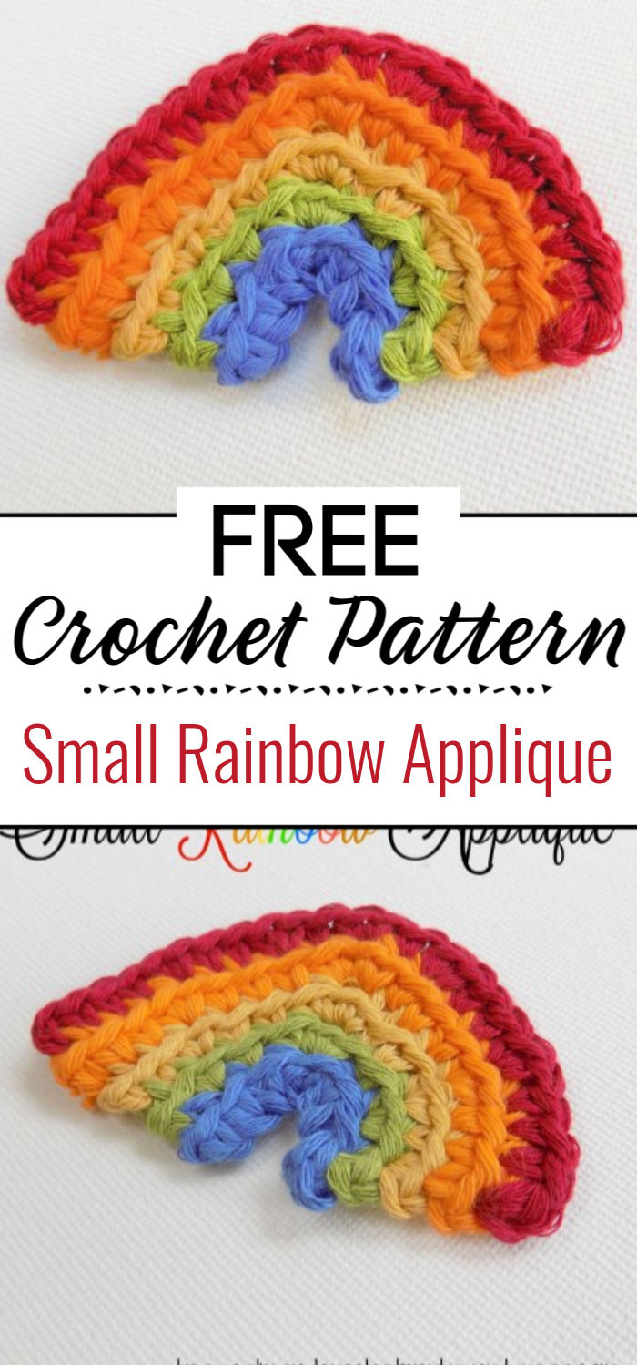 Small Rainbow Applique Free Crochet Pattern