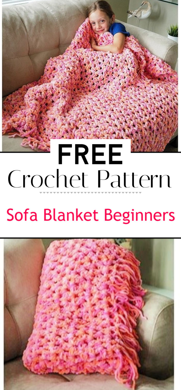 Sofa Blanket Beginners Crochet Pattern