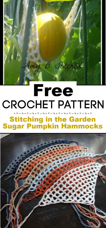 Stitching in the Garden Crocheted Sugar Pumpkin Hammocks Free Pattern