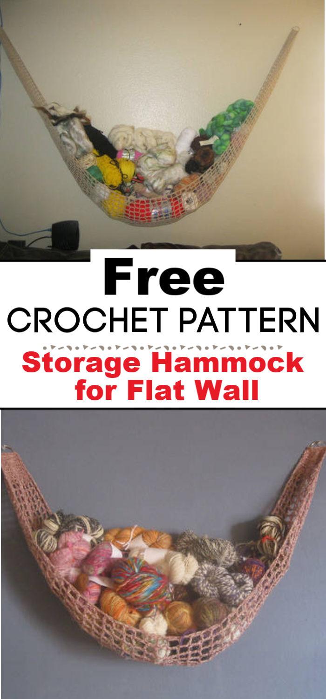 Storage Hammock for Flat Wall