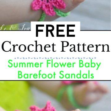 Summer Flower Baby Barefoot Sandals