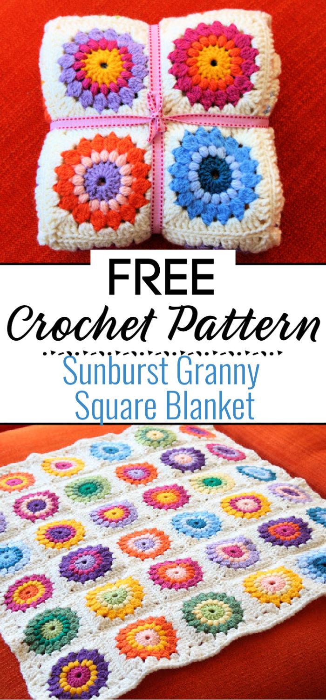 Sunburst Granny Square Blanket Tutorial