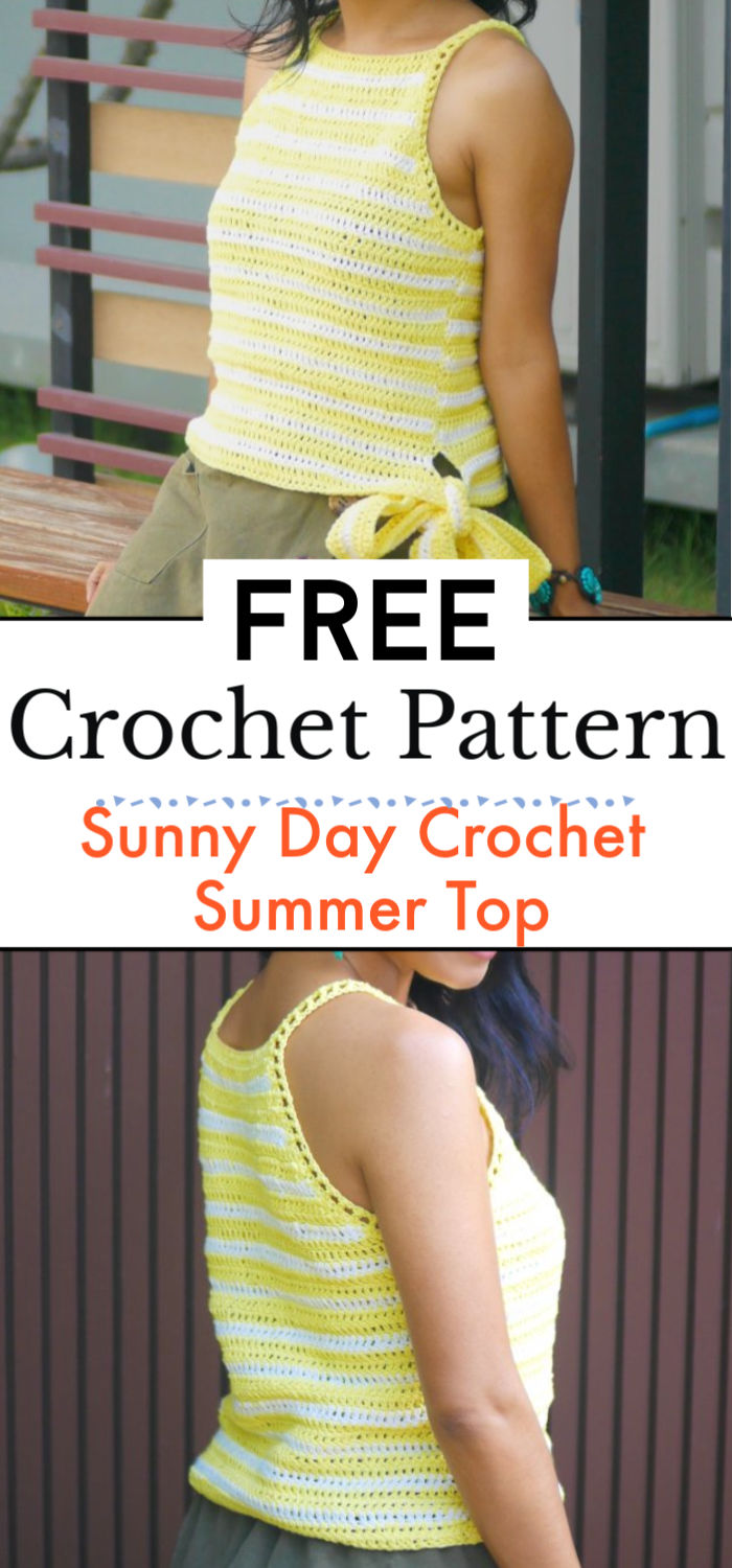 Sunny Day Crochet Summer Top Free Pattern