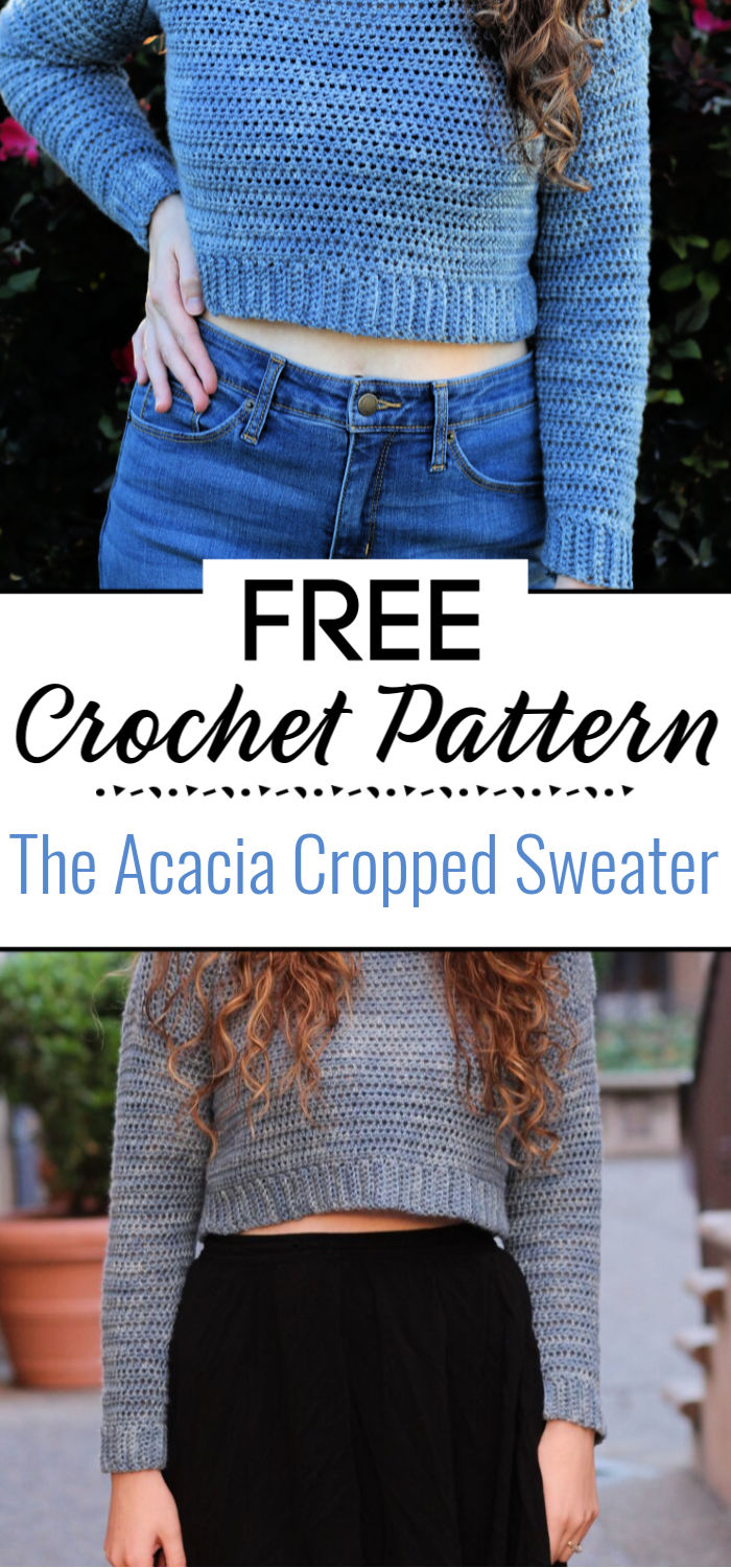 The Acacia Cropped Sweater Free Crochet Pattern