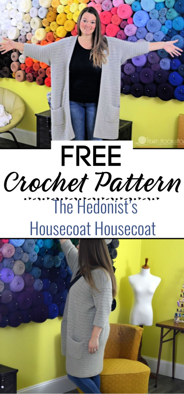 The Hedonist's Housecoat Free Crochet Housecoat Pattern