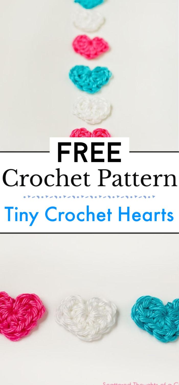 Tiny Crochet Hearts With Pattern