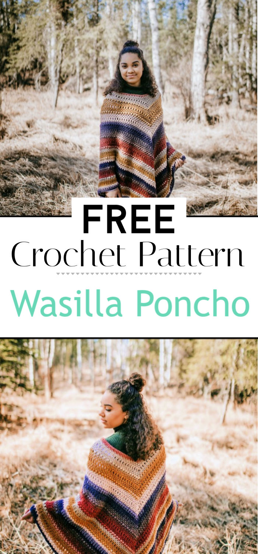 Wasilla Poncho Free Crochet Poncho Pattern