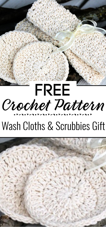 5.Crochet Wash Cloths Scrubbies Gift 1
