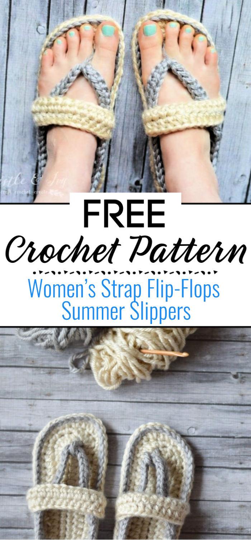 8.Women's Strap Flip Flops Summer Slippers