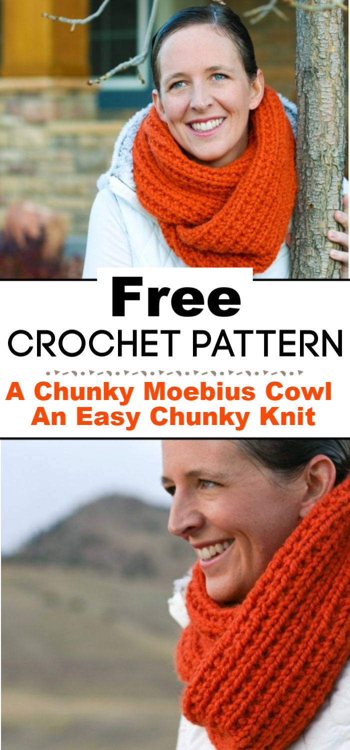 A Chunky Moebius Cowl An Easy Chunky Knit Free Pattern