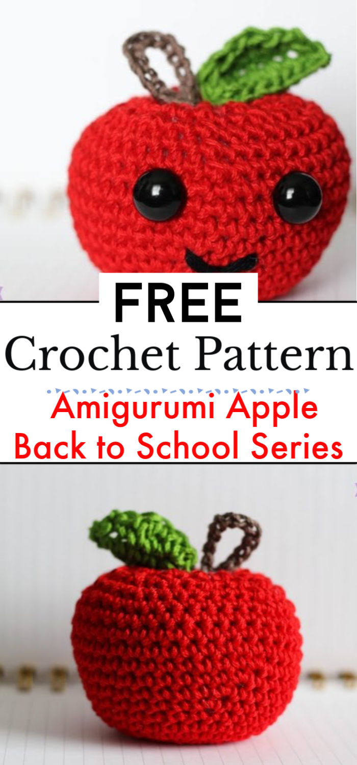 Amigurumi Apple Back to School Series