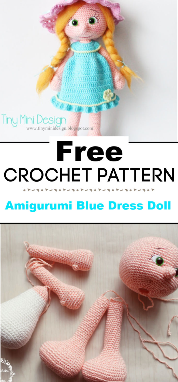 Amigurumi Blue Dress Doll Free Pattern