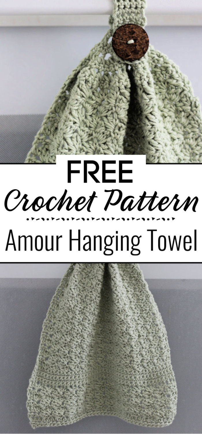 Amour Hanging Towel Free Crochet Pattern