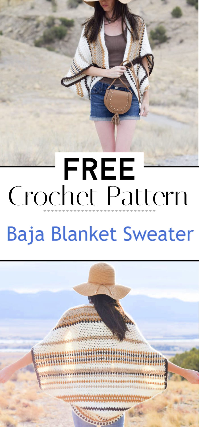 Baja Blanket Sweater Crochet Pattern
