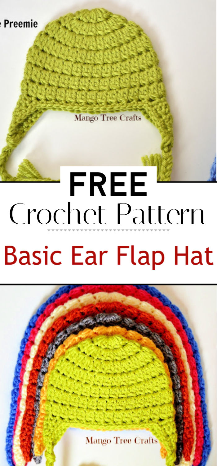 Basic Crochet Ear Flap Hat Pattern
