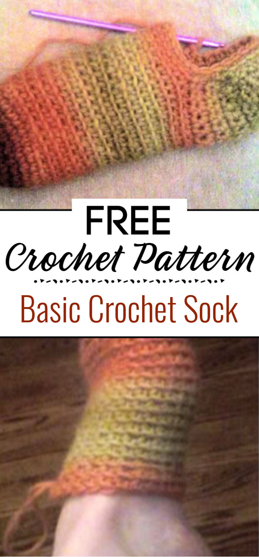 Basic Crochet Sock