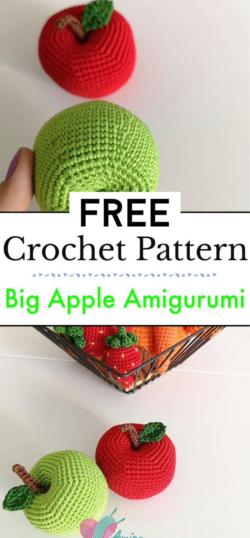 Big Apple Amigurumi Crochet Pattern