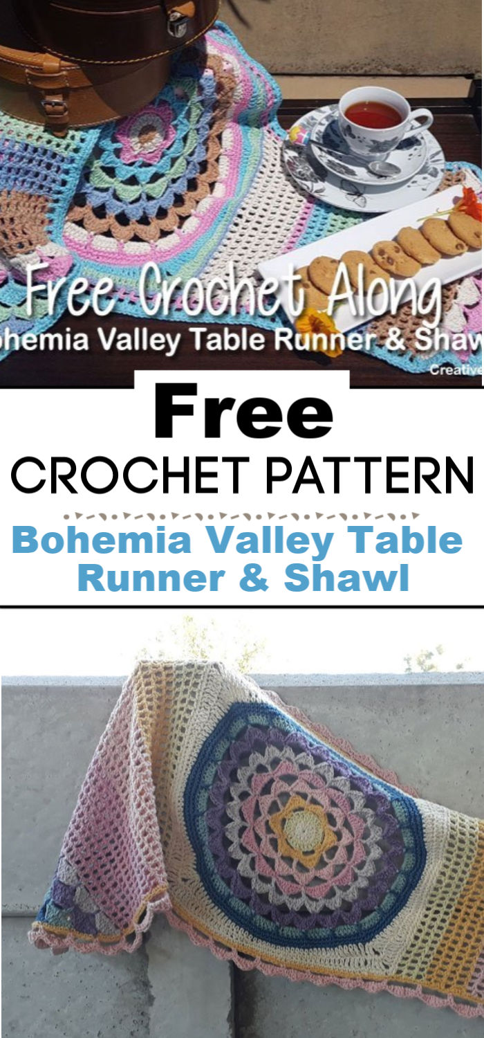Bohemia Valley Table Runner Shawl