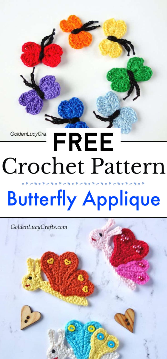 Butterfly Crafts for Kids Crochet Pattern 1