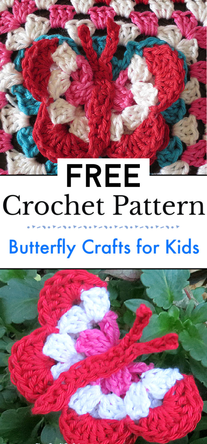 Butterfly Crafts for Kids Crochet Pattern