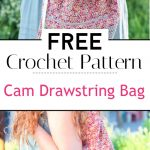 Cam Drawstring Bag Free Crochet Pattern
