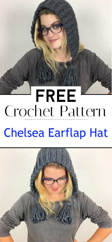 Chelsea Earflap Hat Crochet Pattern