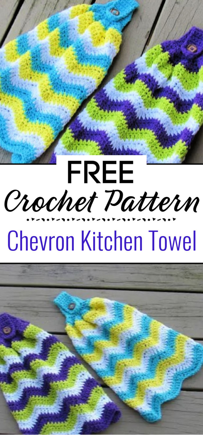 Chevron Kitchen Towel Free Crochet Pattern