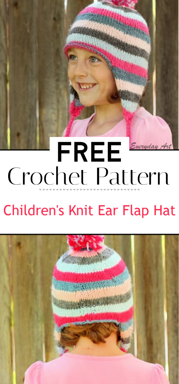 Childrens Knit Ear Flap Hat Pattern