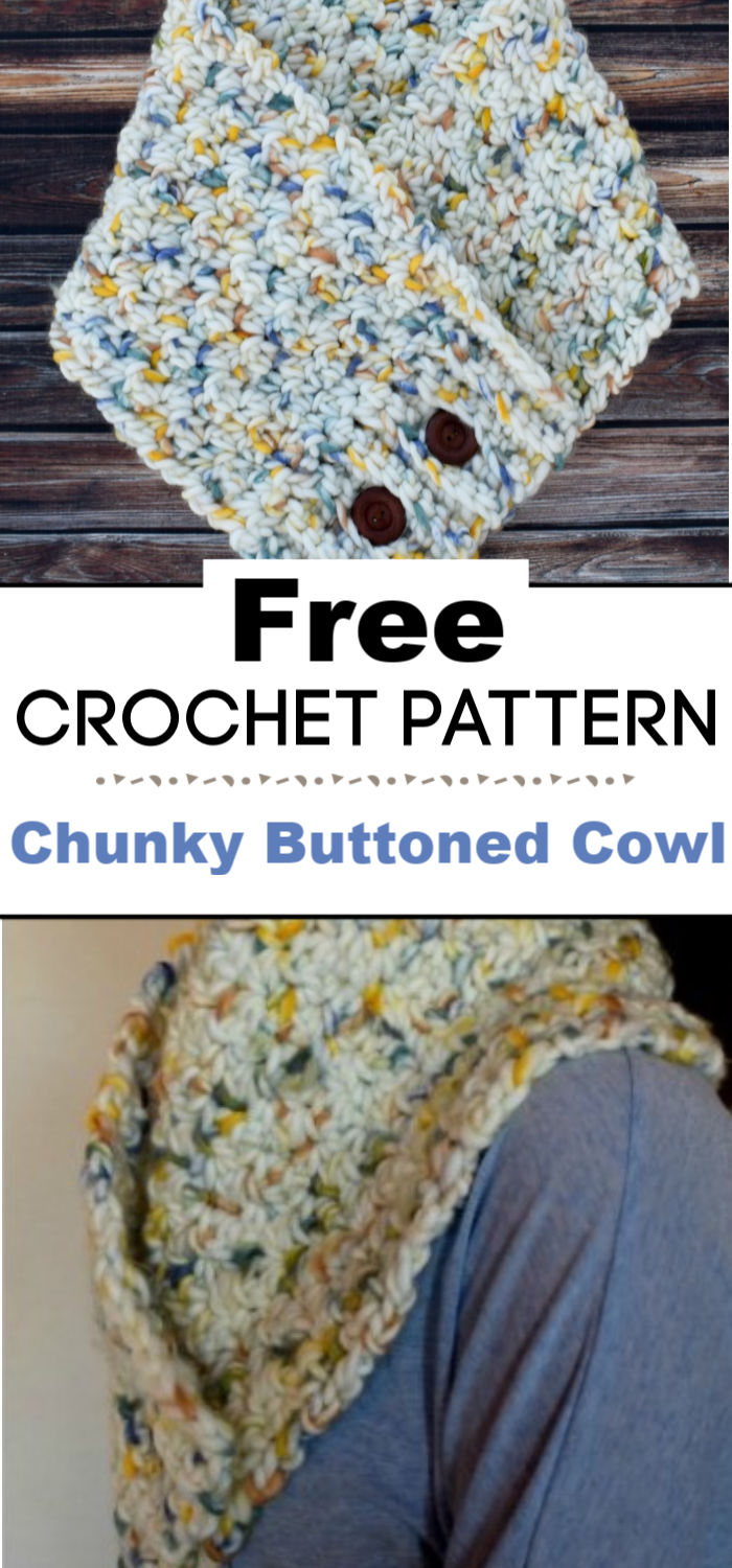 Chunky Buttoned Cowl Crochet Pattern