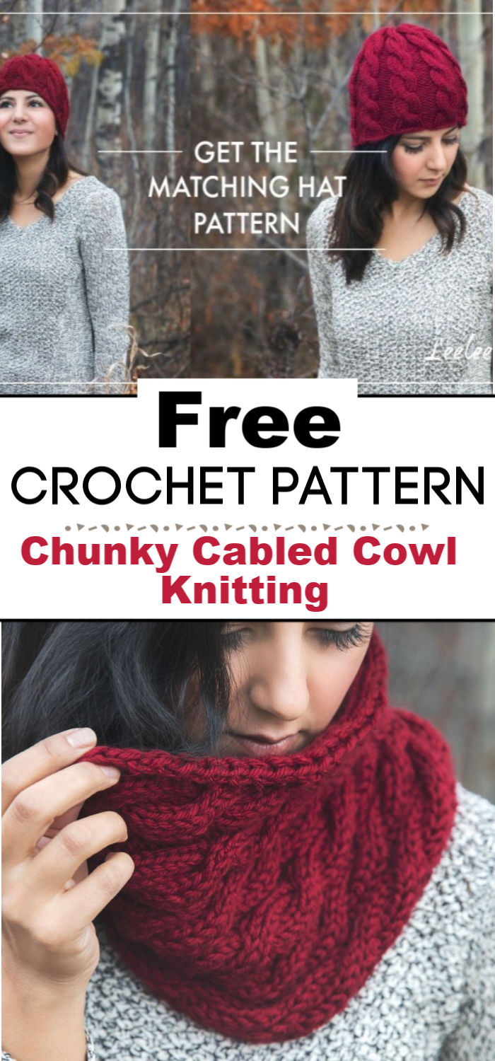 Chunky Cabled Cowl Free Knitting Pattern
