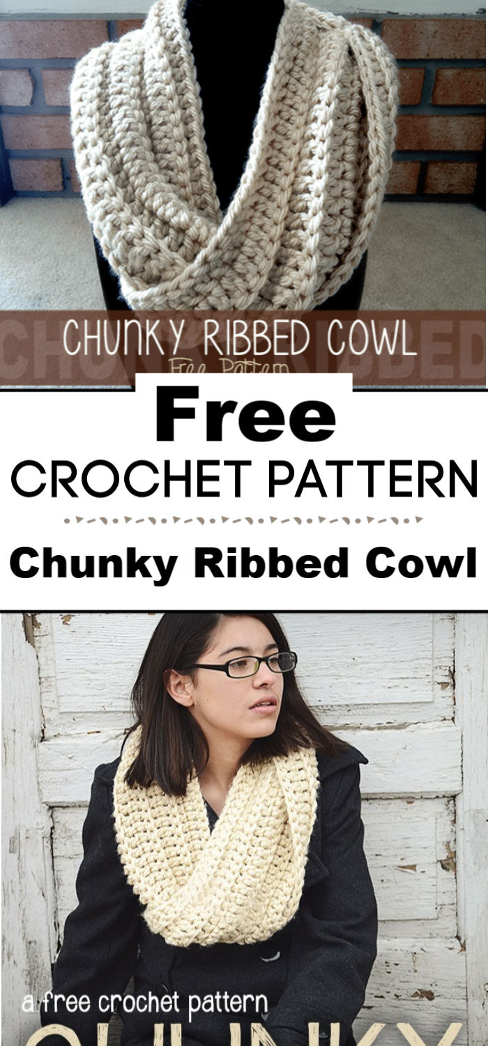 Chunky Ribbed Cowl Free Pattern