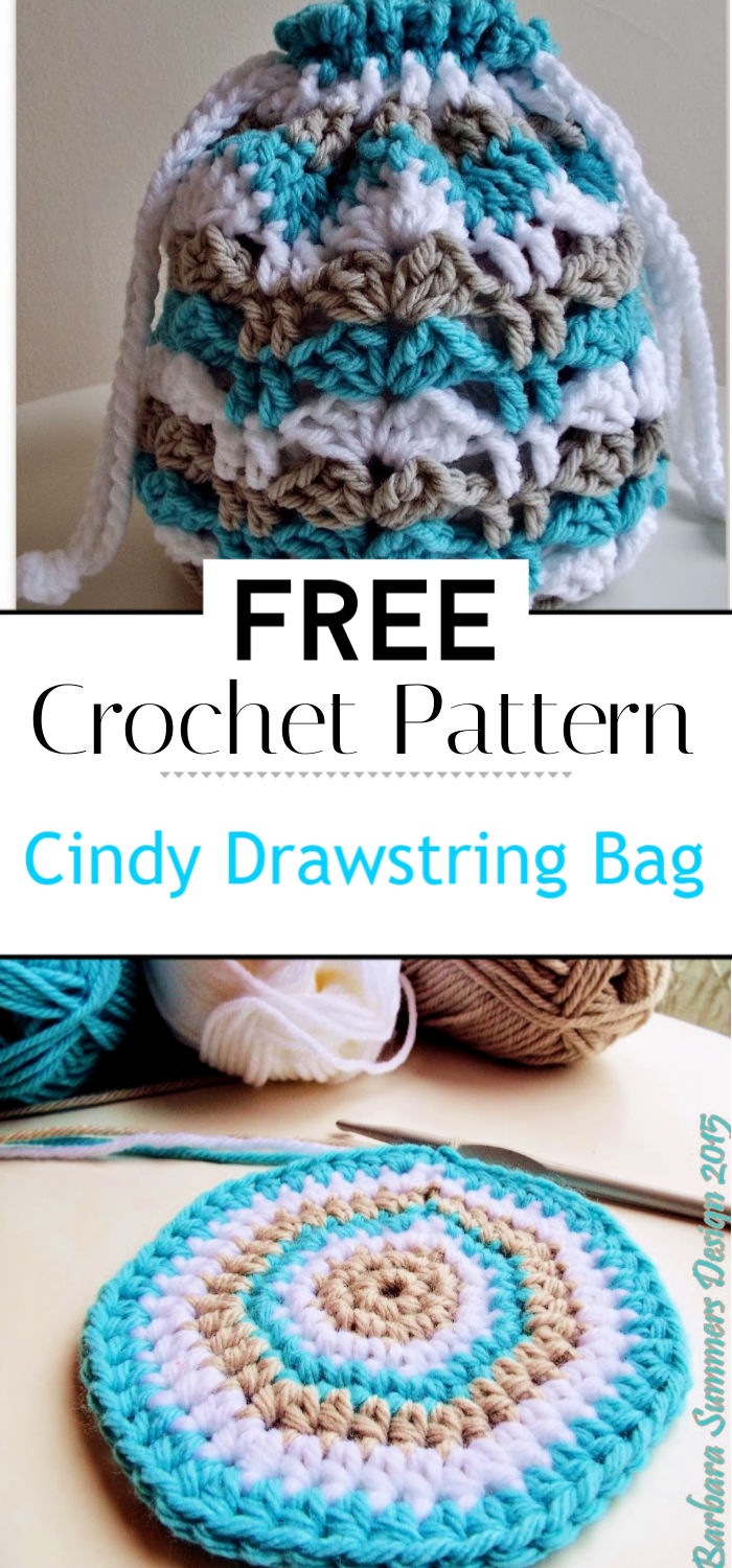 Cindy Crochet Drawstring Bag Free